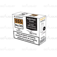 Element 555 Tobacco NS20 E-Liquid Pods