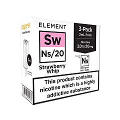 Element Strawberry Whip NS20 E-Liquid Pods
