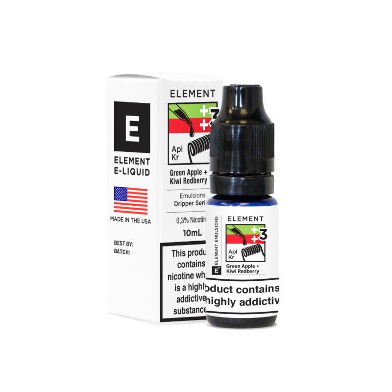 Green Apple and Kiwi Red Berry - Element Emulsion E-Liquid