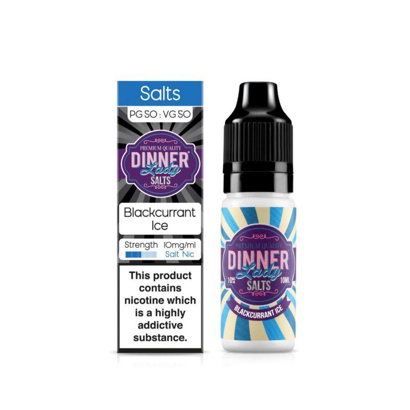 Blackcurrant Ice | 10ml Dinner Lady Nic Salts