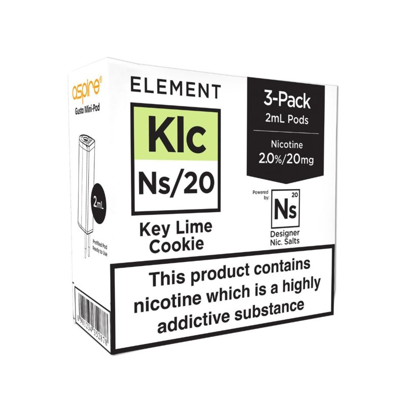 Element Keylime Cookie NS20 E-Liquid Pods