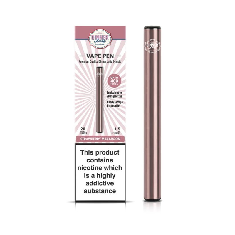 Strawberry Macaroon | Dinner Lady Disposable Vape Pen