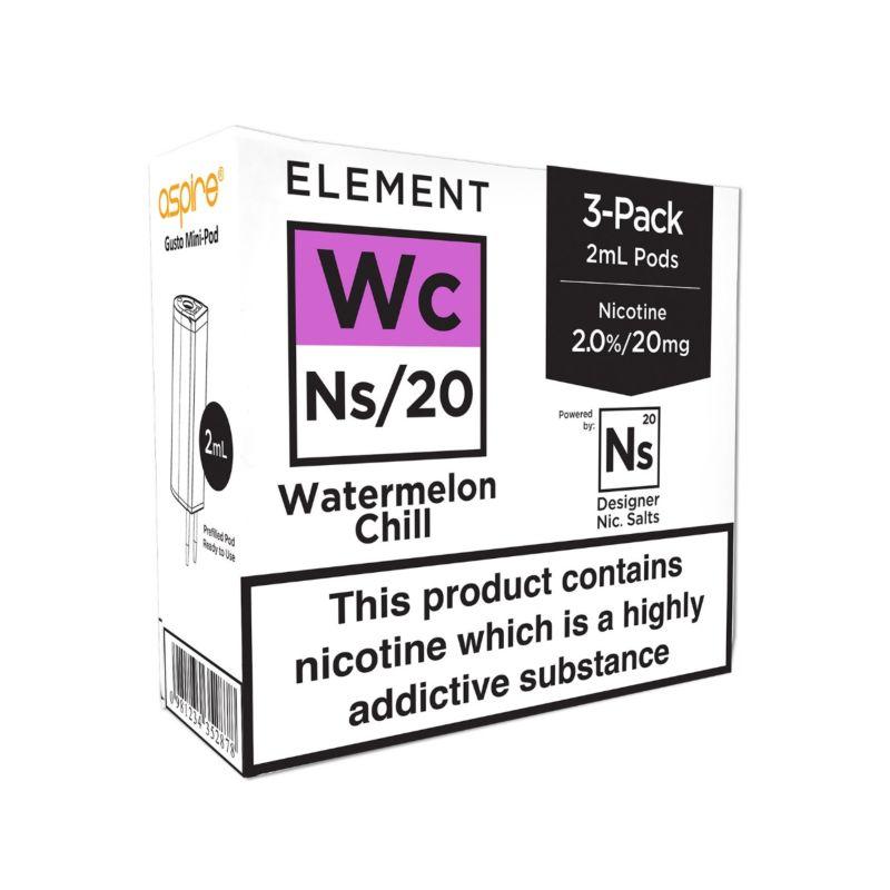 Element Watermelon Chill NS20 E-Liquid Pods