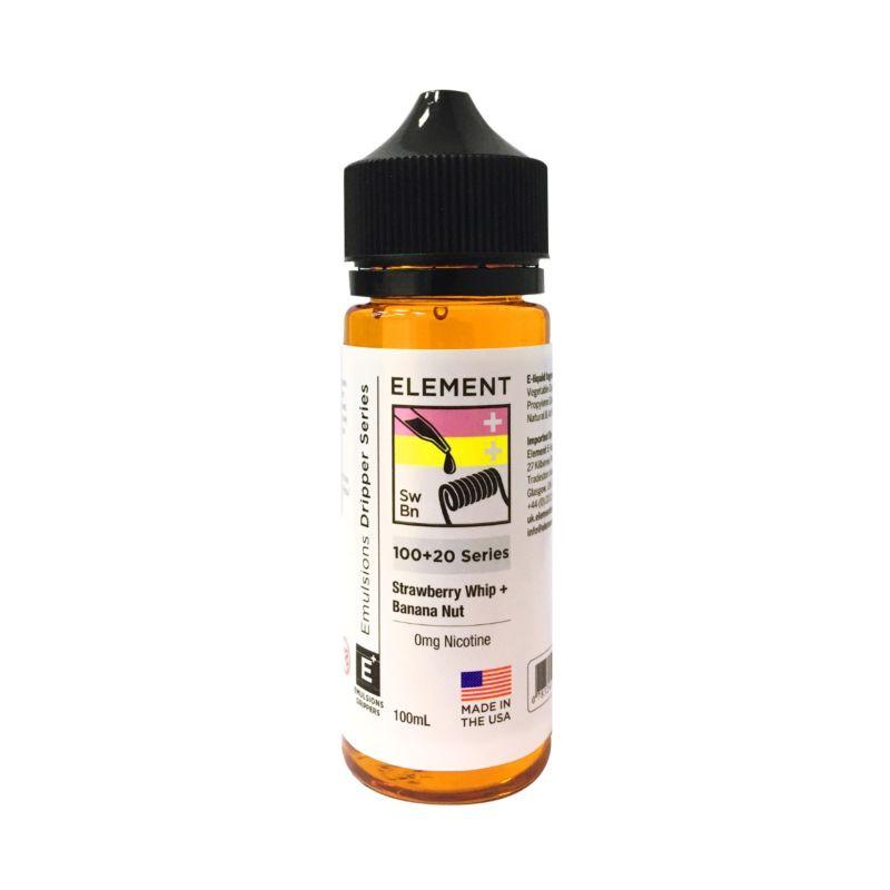 Strawberry Whip Banana Nut | 100+20ml Element Emulsion E-Liquid