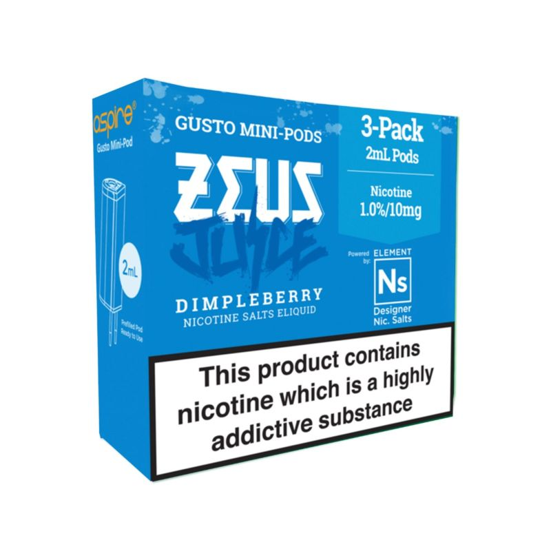 Dimpleberry 3 pack Element Gusto NS10 and NS20 Pods