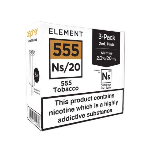 Element 555 Tobacco NS20 E-Liquid Pods