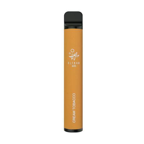 Cream Tobacco Elfbar 600 Disposable Vape Bar