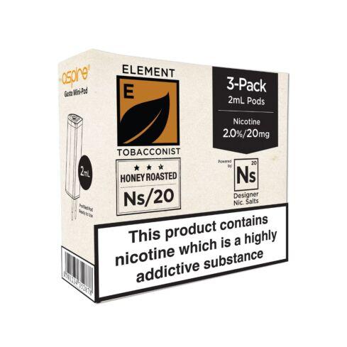 Element Honey Roasted Tobacco NS20 E-Liquid Pods