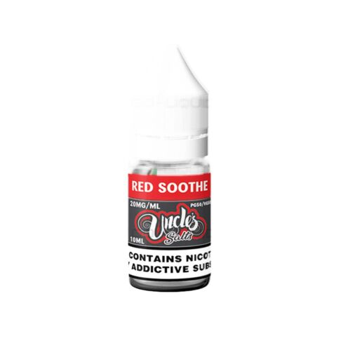 Red Soothe   10ml Uncles Nic Salts