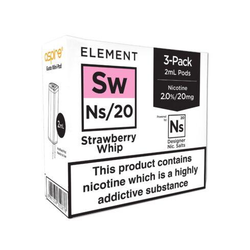 Element Strawberry Whip NS20 E-Liquid Pods