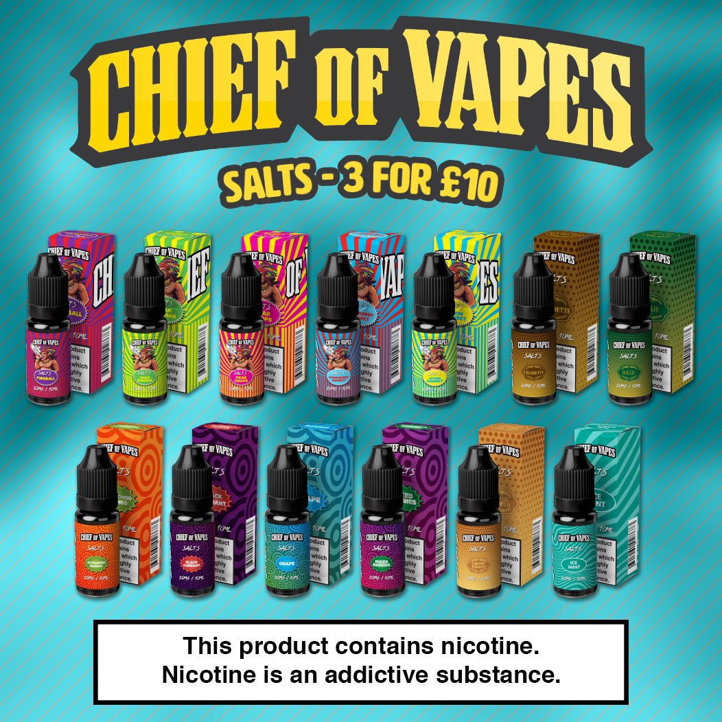 Chief of Vapes Nicotine Salts Review