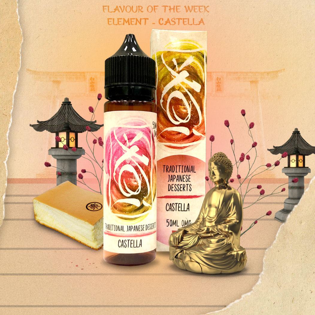 Flavour of the Week - Castella by Element E-Liquid - KOI Range