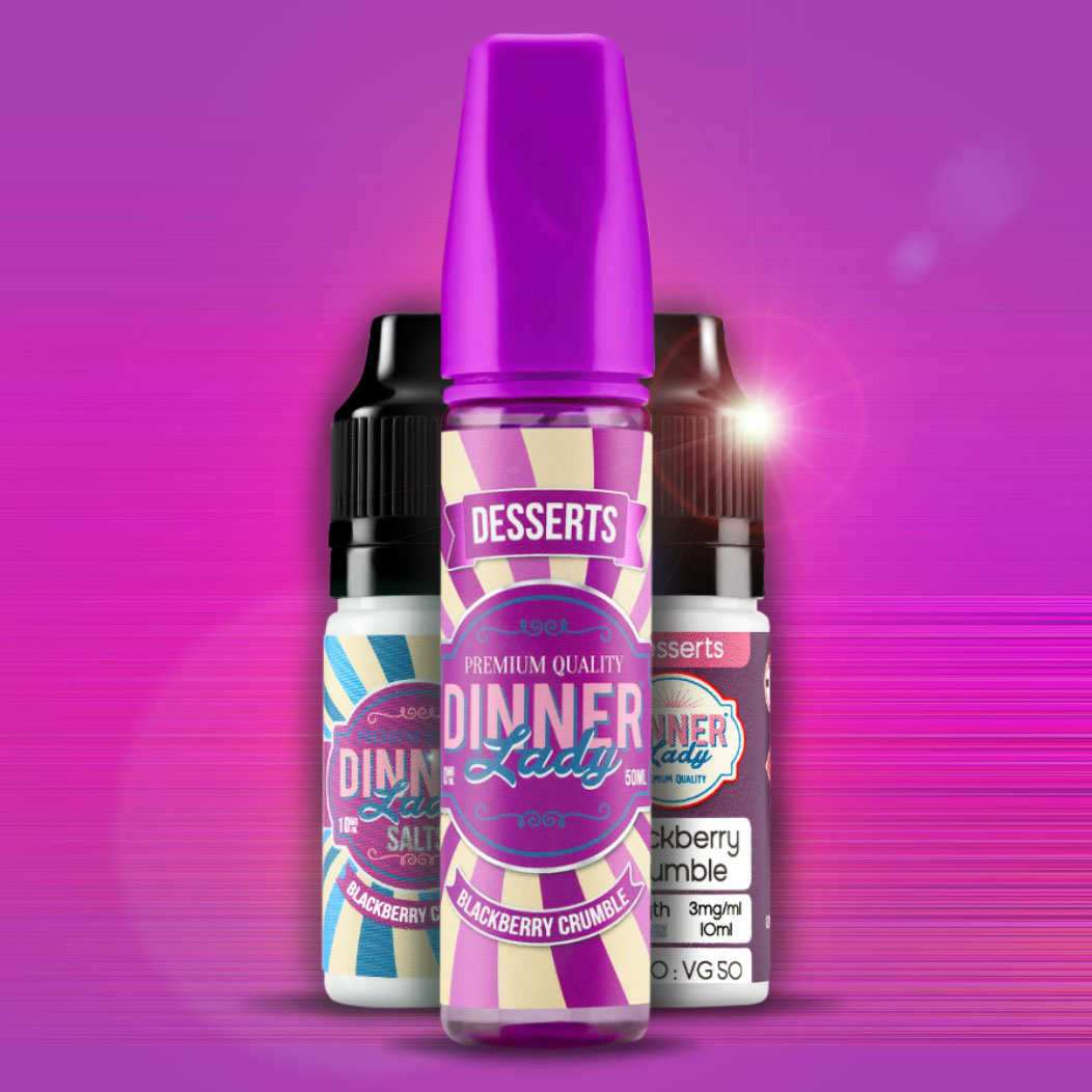 Blackberry Crumble - Dinner Lady E-Liquid Review