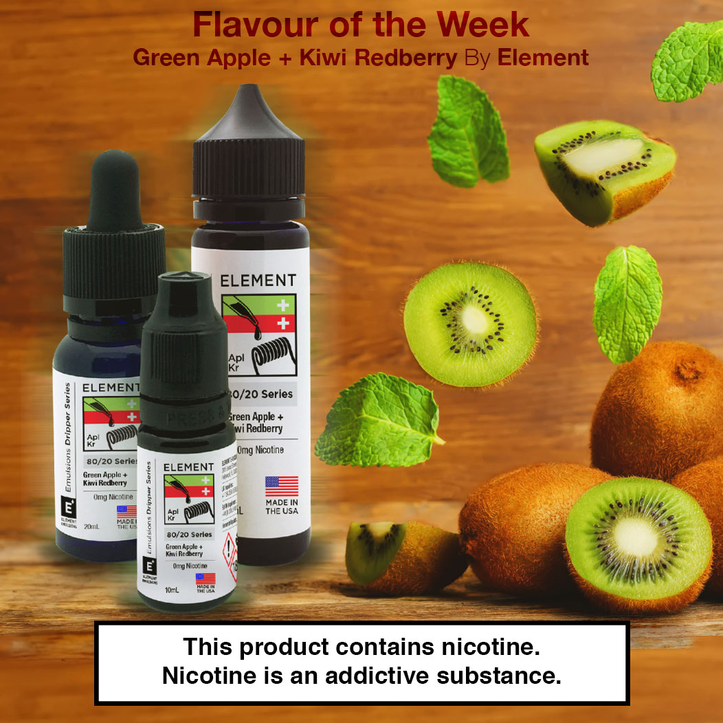 Flavour of the Week - Green Apple & Kiwi Red Berry by Element E-Liquid