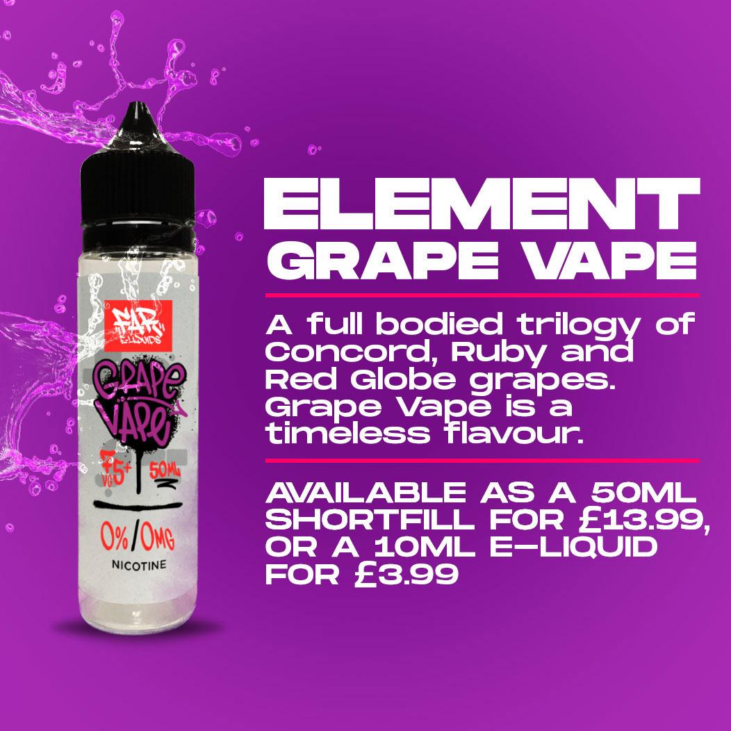 Element E-Liquid - Grape Vape Review
