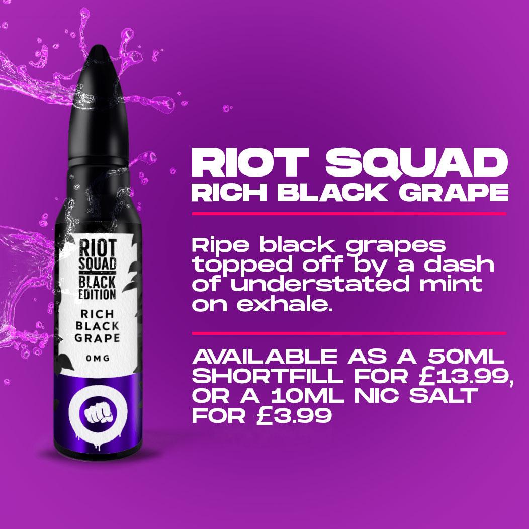 Riot Squad - Rich Black Grape Review